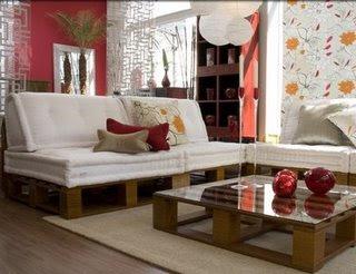 Hacer muebles con palets reformas barcelona - Hacer sofa de palets ...