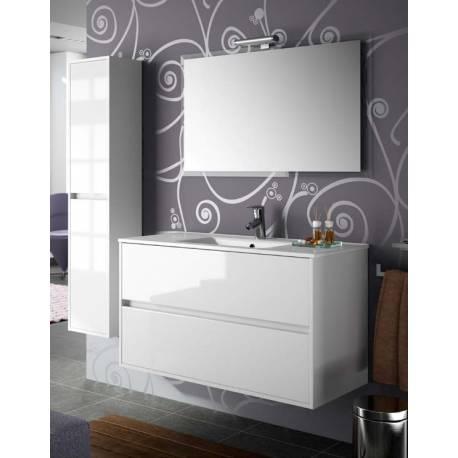 Oferta precio reforma integral de piso en barcelona for Mueble lavabo blanco